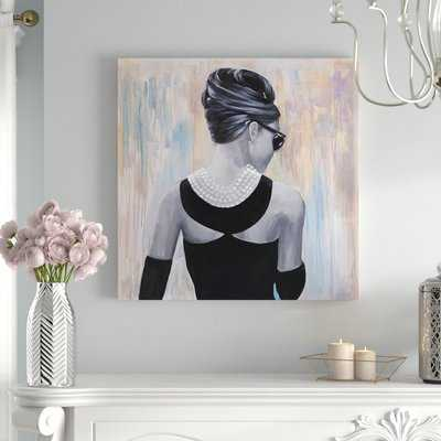 'Audrey Hepburn' Oil Painting Print on Wrapped Canvas - Wayfair