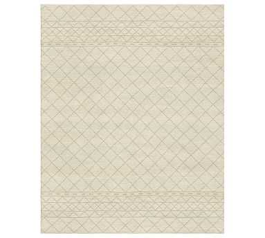 Keeli Custom Dhurrie Rug, 8 x 10, Ivory/Neutral - Pottery Barn
