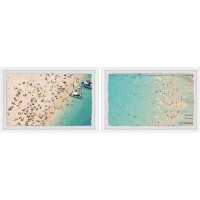 'Aerial Beach Views Diptych' 2 Piece Framed Photographic Print Set - Wayfair