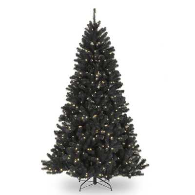 7.5 ft. North Valley Black Spruce Tree with Clear Lights - Home Depot