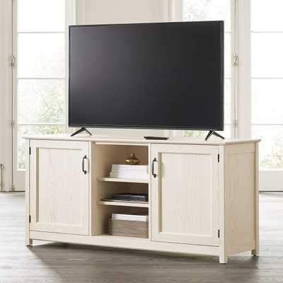 """Ainsworth Cream 64"""" Media Console with Glass/Wood Doors - Crate and Barrel"""