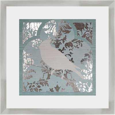'Trellis Songbird II' Framed Graphic Art Print - Wayfair