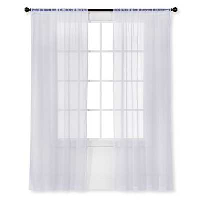 Snow White Sheer Curtain Panel Crinkle - Room Essentials - Target