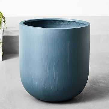 Radius Planters, Petrol Blue, Large - West Elm