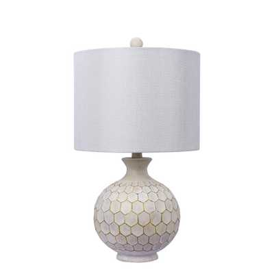 Fangio Lighting 21.5 in. Antique Ivory Resin Table Lamp - Home Depot