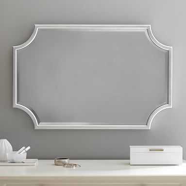 "Scallop Silver Leaf Mirror, 24""x36"" - Pottery Barn Teen"
