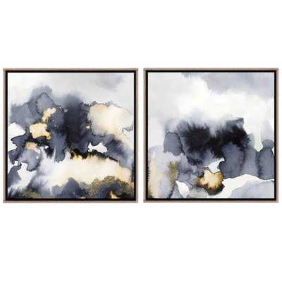 'Lost in Your Mystery I' 2 Piece Framed Print Set on Canvas - Wayfair