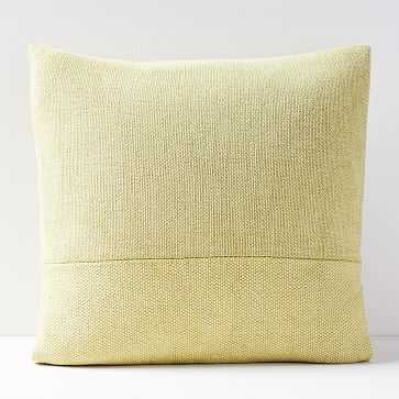 "Cotton Canvas Pillow Cover, Yellow Stone, 18""x18"" - West Elm"