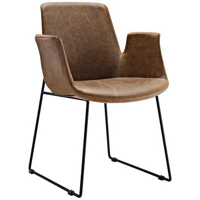 Aloft Brown Faux Leather Dining Chair - Style # 33T33 - Lamps Plus