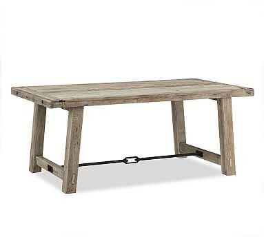 "Benchwright Dining Table, Gray Wash, 74""L x 38""W - Pottery Barn"