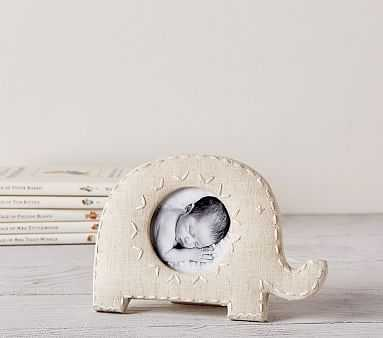 Elephant Shaped Linen Frames, Small - Pottery Barn Kids