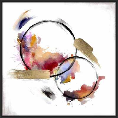 'Abstract Circles III' Framed Print on Canvas - Wayfair