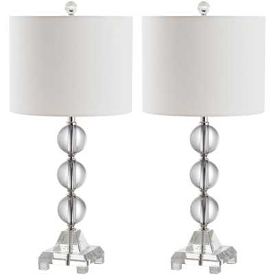 Safavieh Fiona 24 in. Clear Crystal Table Lamp (Set of 2) - Home Depot