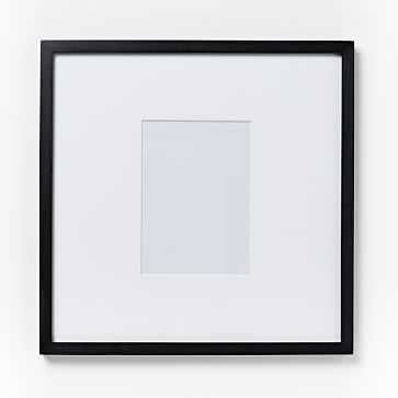 """Gallery Frame, 4""""x 6"""" (17"""" x 17"""" without mat), Black Lacquer - West Elm"""