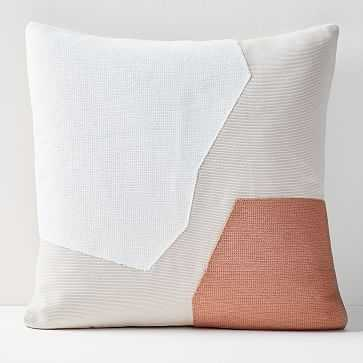 "Corded Minimalist Geo Pillow Cover, Sunstone, 20""x20"" - West Elm"