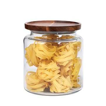 Glass Jar w/ Acacia Lids, 96 oz - West Elm