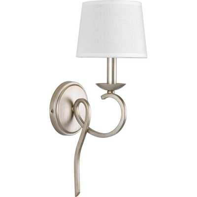 Progress Lighting Savor Collection 1-Light Silver Ridge Sconce - Home Depot