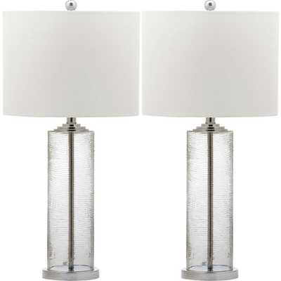 Safavieh Grant 29 in. Clear Table Lamp (Set of 2) - Home Depot