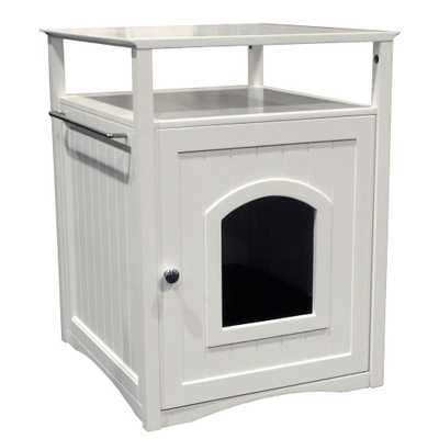 White Cat Washroom Litter Box Cover - Home Depot