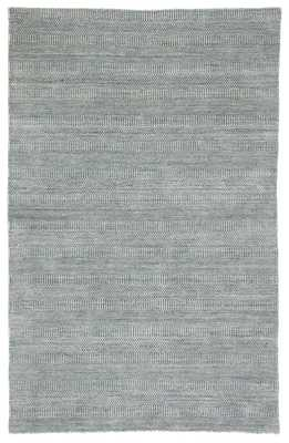 "Minuit Handmade Geometric Ivory/ Dark Blue Area Rug (8'10""X12') - Collective Weavers"