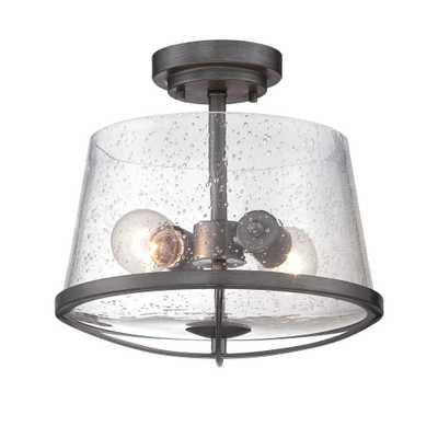 Designers Fountain Darby 2-Light Weathered Iron Semi Flush Mount - Home Depot