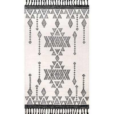 Bainbridge Wool Ivory/Black Area Rug - Wayfair