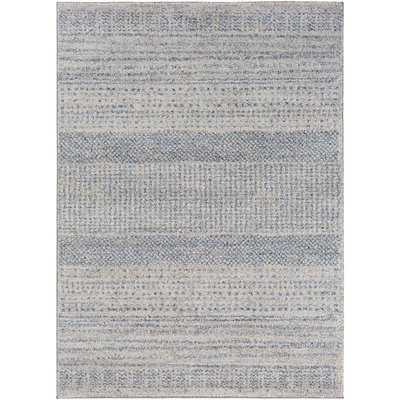 Ponce Medium Gray/Bright Blue Area Rug - Wayfair