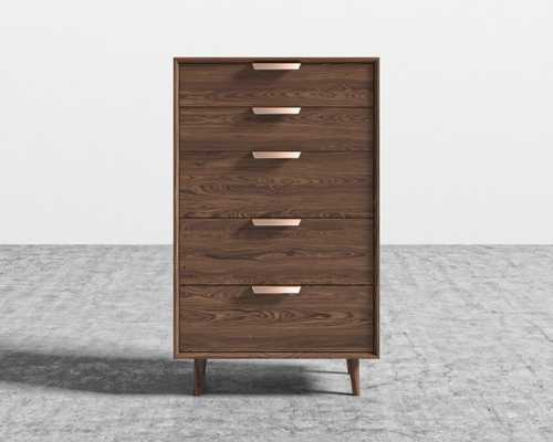 Asher Tall Dresser - Walnut Veneer - Rove Concepts