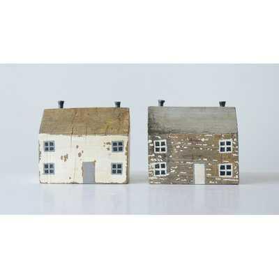 Roessler Handmade Mango Wood and Metal 2 Piece House Set - Wayfair