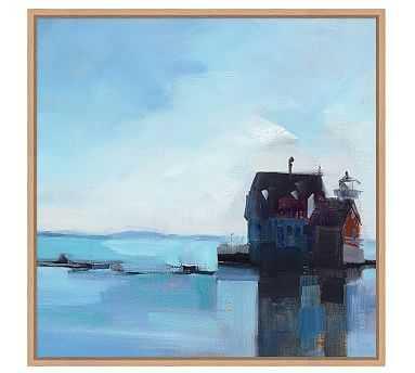 "Leaving Rockland Framed Canvas, 28 x 28"" - Pottery Barn"