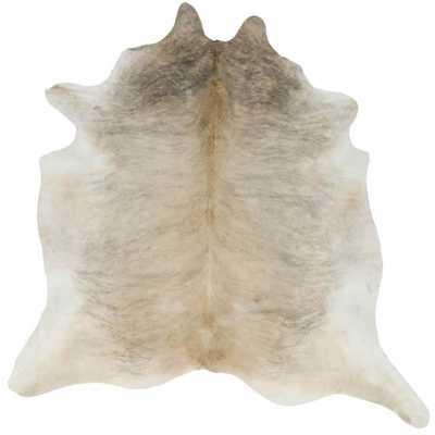 Rugs America Cowhide Gueston Tan 5 ft. 0 in. x 6 ft. 6 in. Rectangular Area Rug - Home Depot