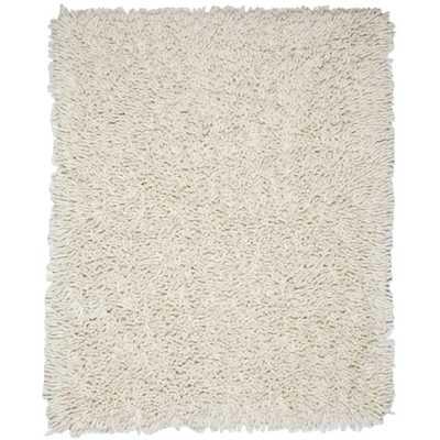 Ivory White 5 ft. x 8 ft. Silky Shag Area Rug, Whites - Home Depot