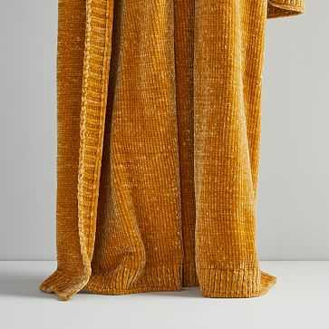 Luxe Chenille Throw, Golden Oak - West Elm