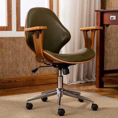 Felson Mid-Back Leather Desk Chair - Wayfair