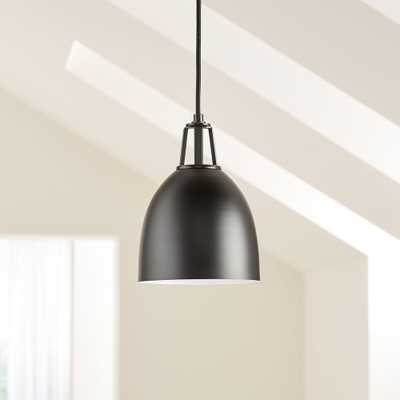 Maddox Black Dome Pendant Small with Black Socket - Crate and Barrel