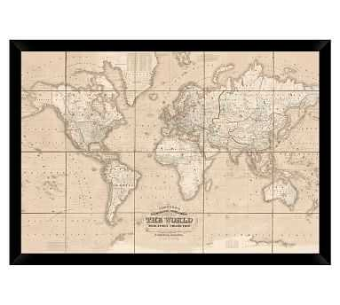 Chart of the World - Oversize - 54 x 38 - Pottery Barn