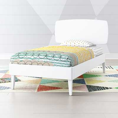 Ellipse White Mid Century Twin Bed - Crate and Barrel