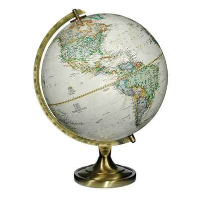Replogle National Geographic Grosvenor 12 in. Desk Globe, Antique - Home Depot