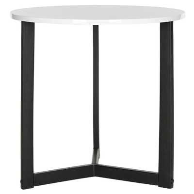 Ballard White and Black End Table, White/Black - Home Depot