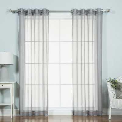 Ashley Solid Sheer Grommet Curtain Panels - AllModern