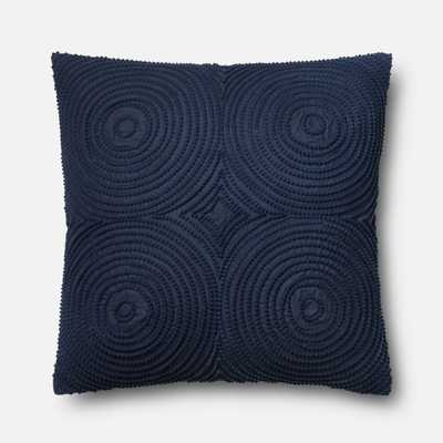 """PILLOWS - NAVY - 22"""" X 22"""" Cover Only - Loma Threads"""