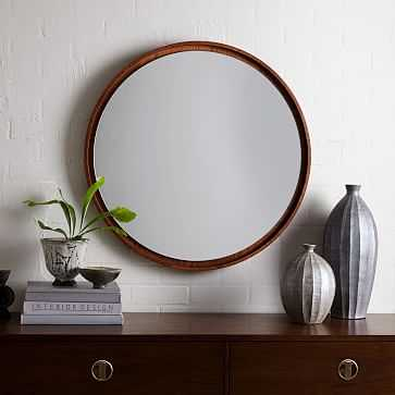 Floating Wood Mirror, Acorn - West Elm