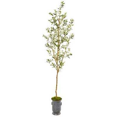 Artificial Olive Tree in Decorative Vase - Wayfair