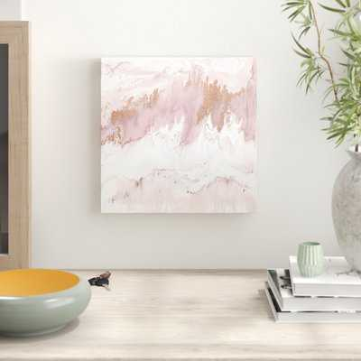 Mineral in Pink by Blakely Bering - Wrapped Canvas Print - AllModern