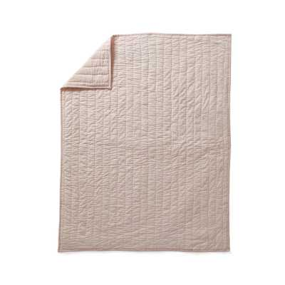 Linen Baby Quilt Light Pink - Crate and Barrel
