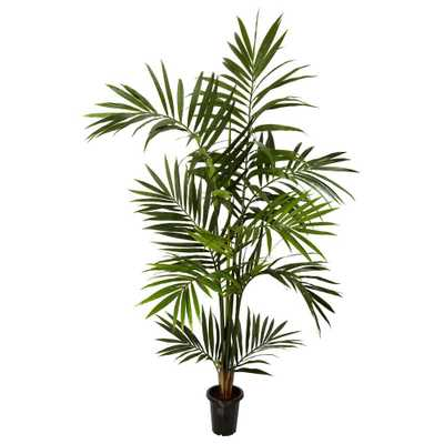 6 ft. Green Kenitia Palm Silk Tree - Home Depot