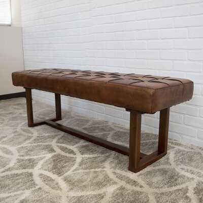 Sumba Leather Bench - Wayfair