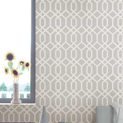 """Essentials 33' x 20.5"""" Trellis Montauk Wallpaper Roll - Birch Lane"""