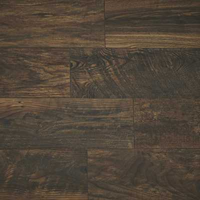 Home Decorators Collection Take Home Sample - Copper Wood Fusion Laminate Flooring - 5 in. x 7 in., Dark Red Color/Authentic Textured Finish - Home Depot