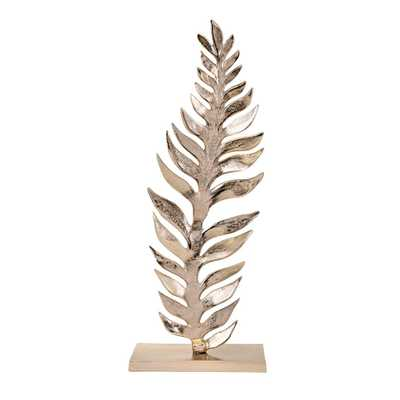 Imax Carrolton Large Leaf Sculpture, Gold - Home Depot